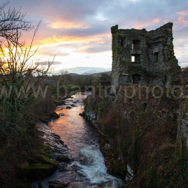 Carriganass Castle Kealkil Sunset